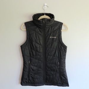 Columbia women's black vest w/ Omni-heat
